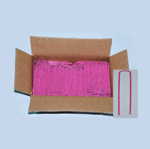1000 6 Inch Sod Staples (Bright Pink)